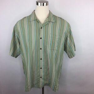 Tommy Bahama silk shirt sleeve shirt